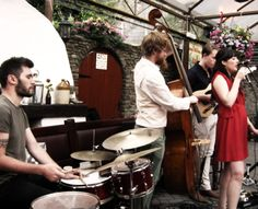 """Great Swing/Gypsy Jazz band """" Lyda"""" play at the Franciscan Well pub"""
