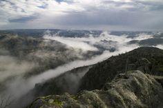 El río Duero. La niebla se levanta.