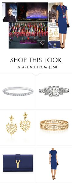 """""""Attending the Closing Ceremony of the London 2012 Olympic Games"""" by princess-katharina ❤ liked on Polyvore featuring Sebastian Professional, Paloma Picasso, Tiffany & Co., Yves Saint Laurent, Stila and Opening Ceremony"""