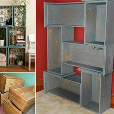 Drawer Shelves Diy, Pallet Shelves, Book Shelves, Build Shelves, Dresser Shelves, Drawer Ideas, Diy Shelving, Drawer Storage, Shelf Ideas