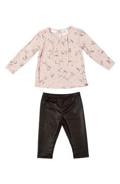 KARDASHIAN+KIDS+Draped+Top+&+Leggings+(Baby+Girls)+available+at+#Nordstrom