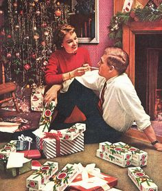 Smokey Holidays To You - 1955 Lucky Strike Christmas Ad…
