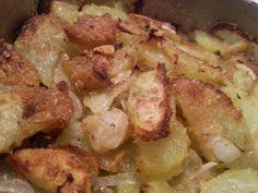 Patatas al horno con parmesano