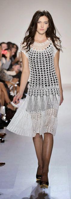 DeMOYO at World MasterCard Fashion Week, SS 2013 - White Crochet Dress