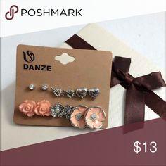 6/ pcs Set Earrings 6 Pair/set Elegant Stud Earrings Jewelry Earrings