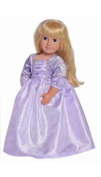 My girls would love to play pretend with their American Girl Dolls in this darling Rapunzel doll dress!  It's only $16 too!