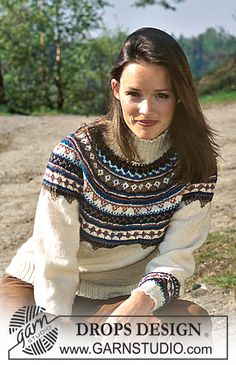 DROPS Pullover in Alpaca and Silke-Tweed ~ DROPS Design