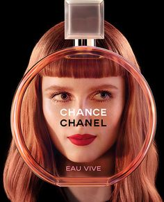 Jean Paul Goude shoots Rianne van Rompaey, Cindy Bruna, Cindy Bruna & Sigrid Agren for Chanel Chance Eau Vive 2015 Ad Campaign. My favorite fragrance ever with new advertising campaign. Chanel Beauty, Beauty Ad, Chanel Makeup, Coco Chanel, Anuncio Perfume, Chanel Chance, Jean Paul Goude, Perfume Chanel, Color Palettes