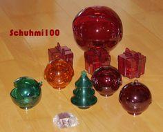 Tupperware Eleganzia Bonboniere Weihnachtskugeln Set mit Schlüsselanhänger neu