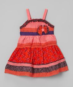 This Coral Tiered Dress