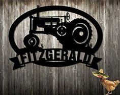 1927 Tractor Farm Family Name Custom Sign Personalized Sign Steel Hand Made Metal Sign Metal Wall Art w x h) Father's Day Gift Made In USA Metal Walls, Metal Wall Art, Canvas Wall Art, Home Wall Art, Wall Art Decor, Halloween Wall Decor, Christmas Wall Art, Homemade Art, Farm Signs