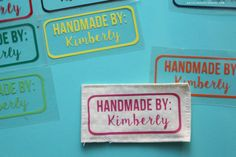Iron on Vinyl Tags for Homemade clothes and giveaway!