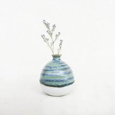 Mini Vase-Light Sea Green Vase With Lights, House Warming, Ceramics, Sea, Mini, Green, Handmade, Gifts, Design