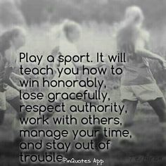 Honestly sports are great, to make friends, become healthier, to relieve stress, etc. Just find a sport any sport no matter if you think you'll be good at it or not:)