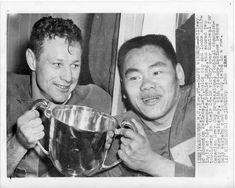 Ray Willsey QB & Normie Kwong Edmonton Eskimos 1955 Grey Cup Canadian Football League, Grey Cup, Football Icon, Photo Hosting, Legends, The Past, Retro, Fall, Photos