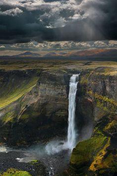 Háifoss Waterfall, Iceland