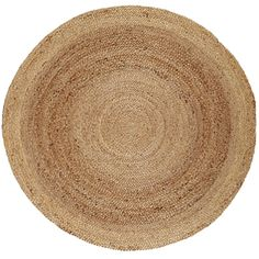 @Overstock.com - Tara Braided Natural Jute Rug (8' Round) - This round hand-woven rug makes a beautiful living room centerpiece. Its braided jute construction makes it insulating and anti-static. The natural fibers are flexible and ductile. The color scheme goes well in any room for a casual look.  http://www.overstock.com/Home-Garden/Tara-Braided-Natural-Jute-Rug-8-Round/7818589/product.html?CID=214117 $194.65