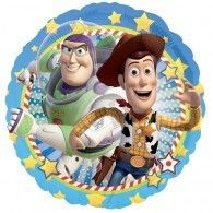 Boys and girls will love this round blue toy story balloon. Featuring the character images of Woody and Buzz, this is a balloon that any fan will love. The balloon is an ideal Birthday gift or party room decoration. Mylar Balloons, The Balloon, Buzz Lightyear, Disney Pixar, Disney Toys, Toy Story Buzz, Toy Story Party, Woody Und Buzz, Toy Story