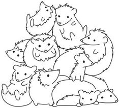Pile o' Cute - Hedgehog Pile design (UTH10487) from UrbanThreads.com