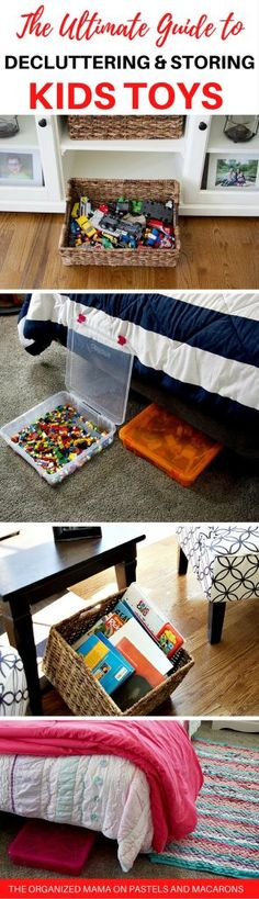 This is an amazing guide to finally dealing with the kids toy storage and decluttering issues you have! Easy to follow instructions and ideas to help organize the toys in your home.