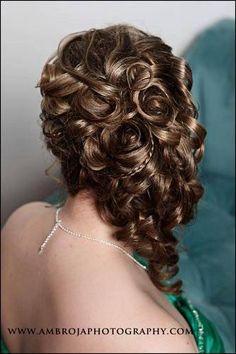 Prom 2012: Soft, romantic side swept style with tiny braids. Ohhh la la ladies!