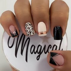 Crazy Nail Designs, Square Nail Designs, Cute Acrylic Nail Designs, Black Nail Designs, Cute Acrylic Nails, Pretty Nail Designs, Gel Nail Designs, Glitter Nails, Nails Design