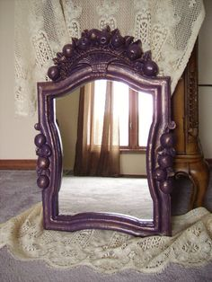 Purple Elegant Plum ornate Mirror