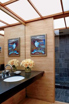 Contemporary Bathroom by Michael Formica Inc. in New Canaan, Connecticut