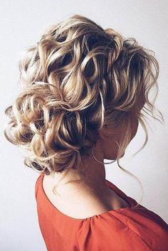 wedding updos for short hair volume curly low bun lena bogucharskaya via instagram #weddinghairstyle #weddinghairstyles