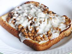 Natto Toast Recipe. I usually put some Japanese Kewpie Mayonnaise on a slice of bread first, then Natto mixed with soy sauce and little mustard plus some cheese on top and put it into oven. #healthy #recipe