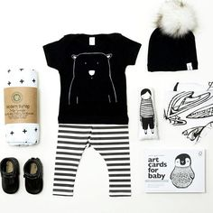 How perfect is this #flatlay that @bonjourbabybaskets put together featuring our Percy the Polar bear tee alongside some of the very best brands out there? Thank you so much for including us in this you guys!! #thewildkidsapparel
