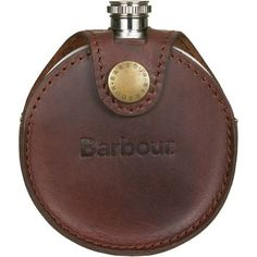 Instead of keeping your spirits in the same old boring stainless flask this winter impress your campmates and chairlift companions with the Barbour Round Hip Flask. Sewing Leather, Leather Craft, King Ring, Mens Gear, Perfume, Small Leather Goods, Barbour, Leather Cover, Camping Gear
