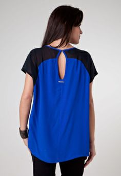 Blusa Colcci Loose Recorte Azul