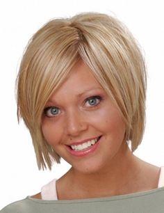 Short Hairstyles Round Face Thin Hair