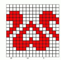 25 heart graphics for Valentine Tapestry Crochet Patterns, Fair Isle Knitting Patterns, Bead Loom Patterns, Knitting Charts, Knitting Socks, Baby Knitting, Cross Stitch Patterns, Crochet Chart, Filet Crochet