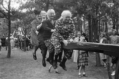 Post with 2024 views. Four ladies having fun on a seesaw, summer the Netherlands. Women Laughing, San Diego Living, Seesaw, Cover Model, Happy Heart, Finding Joy, Funny Comics, Retro, Old Women