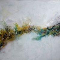 Landschaftszug / landscape Collage, Acryl auf Leinwand / Collage , acrylic on canvas 80 x 120 cm Preis auf Anfrage / price on request