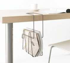 Interior Design - Attention to Detail Hanging File Wire Shelving, Shelves, Home Furniture, Furniture Design, Office Furniture, Hanging Files, Desk Accessories, Industrial Design, Office Decor
