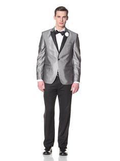 70% OFF Tallia Orange Men\'s 1 Button Sportcoat (Grey)
