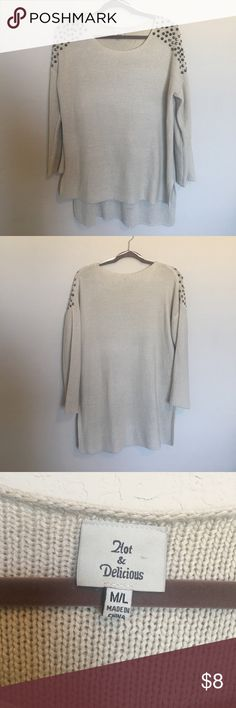 Studded oversized sweater Gently used Hot & Delicious Sweaters