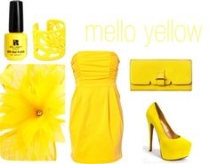 """mello yellow"" by kaydeejane on Polyvore"