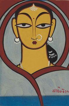 Jamini Roy - Untitled (Worshiper)