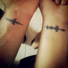 Wave sound of i love you tattoo..There are a lot of people who call you by your name..but there is only ONE PERSON who can make it sound so damn special..!!! <3