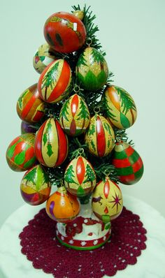 holiday gourds | Egg Gourd Xmas Tree Christmas Ornaments | Gourds Art and Craft