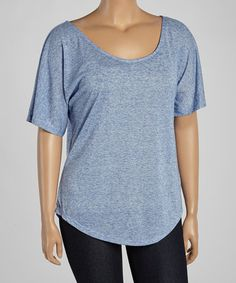 Another great find on #zulily! Blue Dolman Tee - Plus Too #zulilyfinds