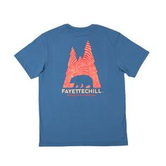 Fayettechill Tee- Inda Wood- Glass Blue from Shop Southern Roots TX