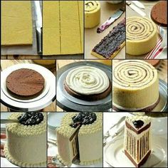 This is How You Can Make a Striped Cake bolo listrado Food Cakes, Cupcake Cakes, Just Desserts, Dessert Recipes, Pancake Recipes, Frosting Recipes, Striped Cake, Decoration Patisserie, Diy Cake