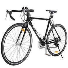 TOMTOP 54cm Aluminum Road/Commuter Bike Racing Bicycle 21 Speed 700C Shimano Black - http://www.bicyclestoredirect.com/tomtop-54cm-aluminum-roadcommuter-bike-racing-bicycle-21-speed-700c-shimano-black/