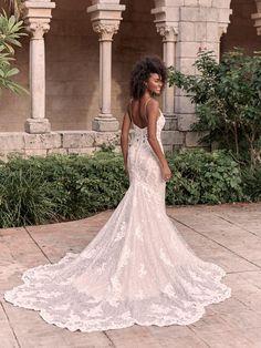 Maggie Sottero Wedding Dresses, New Wedding Dresses, Bridal Dresses, Lace Wedding, Dream Wedding, Wedding Things, Elegant Wedding, Blush Gown, Curvy Bride