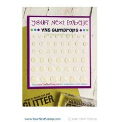 Your Next Stamp - Winter White Glittered Gumdrops  - 46 Self Adhesive Enamel Dots